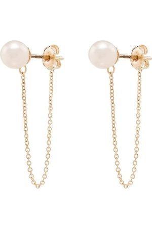 Mateo 14kt gold pearl chain earrings