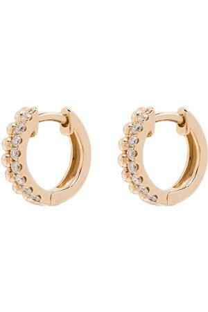 Dana Rebecca Designs 14kt gold Poppy Rae diamond huggie earrings