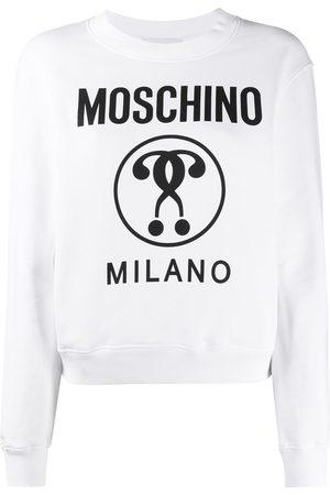 Moschino Women Sweatshirts - Logo print sweatshirt
