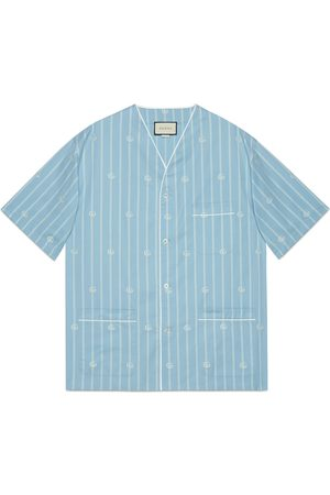 Gucci Double G stripe cotton oversize shirt