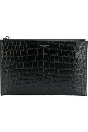 Saint Laurent Tablet Cases - Mini tablet crocodile-embossed sleeve