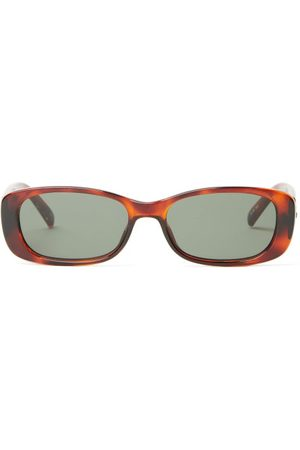 Le Specs Unreal! Rectangular Acetate Sunglasses - Womens - Tortoiseshell