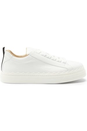 Chloé Lauren Scallop-edge Leather Trainers - Womens