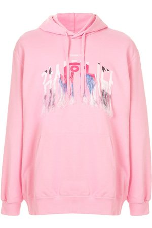 DOUBLET Embroidered fringed hoodie