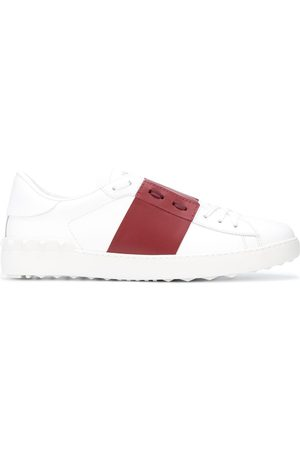 VALENTINO Contrast-band leather sneakers
