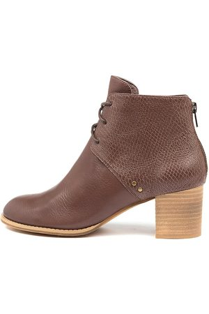 Top end Women Ankle Boots - Sizzler Djto Mocca Print Boots Womens Shoes Casual Ankle Boots