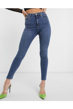 ASOS High rise ridley 'skinny' jeans in vintage midwash blue