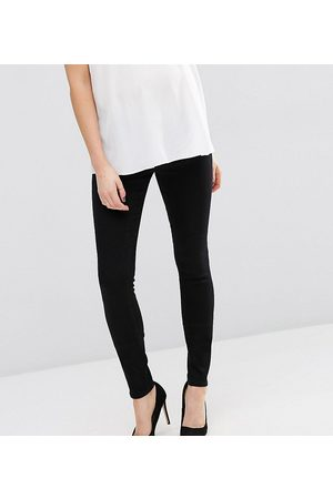 ASOS Women Boyfriend - ASOS DESIGN Maternity Tall high rise ridley 'skinny' jeans in clean black with under the bump waistband
