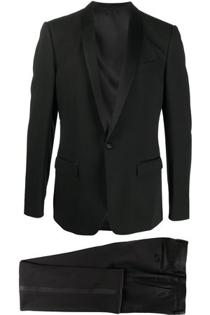 Dolce & Gabbana Men Scarves - Wool-silk mix single breasted suit with shawl lapels