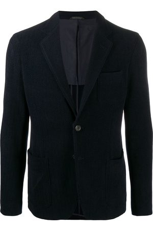 Armani Men Blazers - Herringbone single-breasted blazer