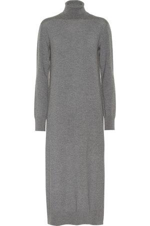 Jil Sander Wool turtleneck midi dress