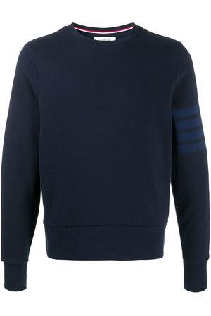 Thom Browne 4-Bar crew-neck loopback-cotton sweatshirt