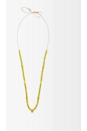 Musa by Bobbie Diamond, Aquamarine & 18kt Gold Charm Necklace - Womens