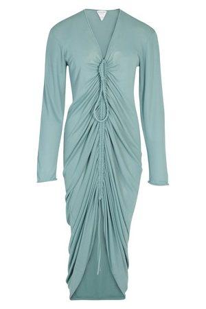 Bottega Veneta Midi glossy viscose dress