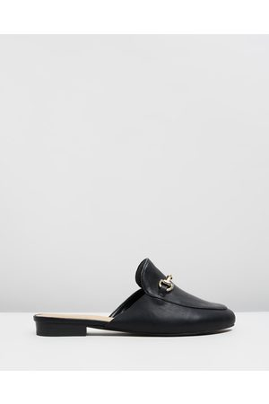 SPURR Sim Wide Fit Mules - Flats ( Smooth) Sim Wide Fit Mules