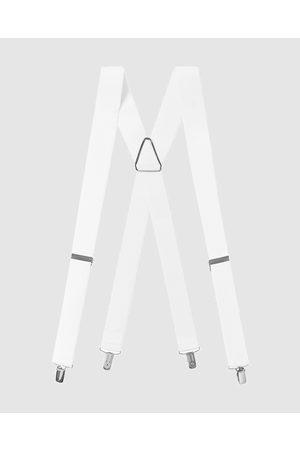 Buckle Plain 35mm X Back Braces - Suspenders Plain 35mm X Back Braces