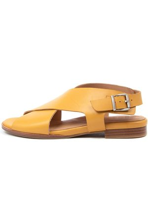 Ziera Tosca W Zr Mustard Sandals Womens Shoes Comfort Sandals Flat Sandals