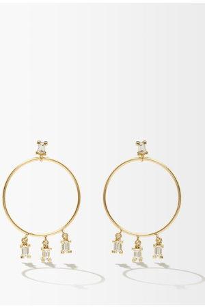 Ileana Makri Baguette Diamond & 18kt Hoop Earrings - Womens