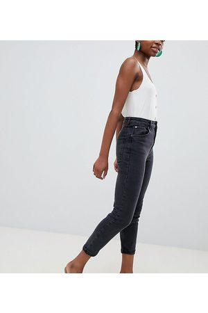 ASOS Women Boyfriend - ASOS DESIGN Petite high rise farleigh 'slim' mom jeans in washed black