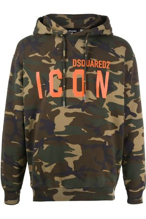 Dsquared2 Logo-print camouflage hoodie