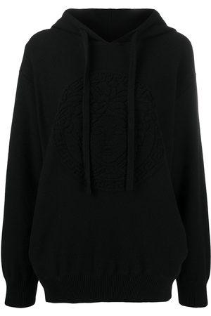 Versace Women Hoodies - Medusa wool hoodie