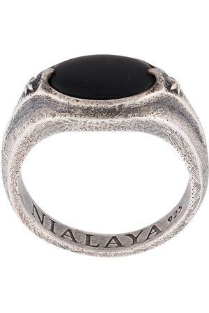 Nialaya Engraved stone ring
