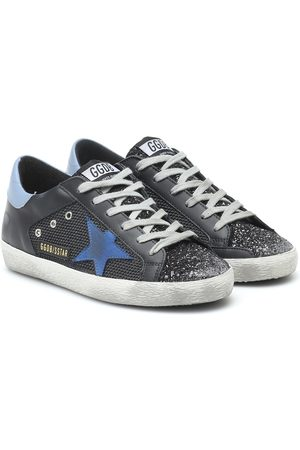 Golden Goose Superstar leather and mesh sneakers