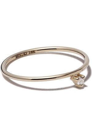 Mizuki 14kt yellow single diamond ring