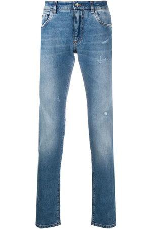 Dolce & Gabbana Stonewashed-effect slim-fit jeans