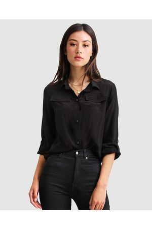 Belle & Bloom Eclipse Rolled Sleeve Blouse - Tops Eclipse Rolled Sleeve Blouse