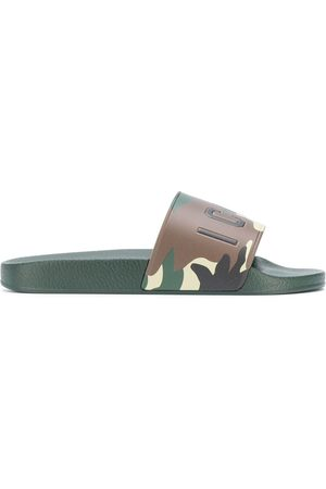 Dsquared2 Men Thongs - Camouflage print slides