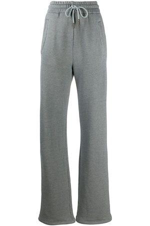 OFF-WHITE Women Wide Leg Pants - Diag wide-leg track pants