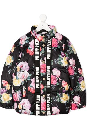 Philipp Plein Girls Winter Jackets - Padded floral bomber jacket