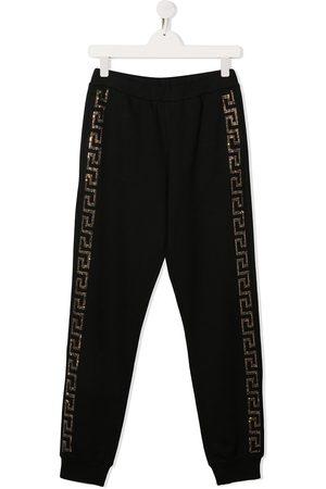 VERSACE Rhinestone side logo track pants