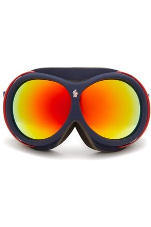 Moncler Logo-jacquard Strap Ski Goggles - Mens - Navy Multi