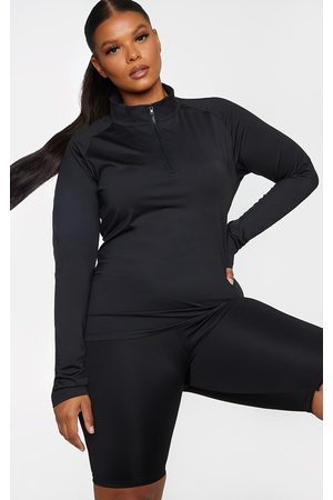 PRETTYLITTLETHING Plus Long Sleeve Zip Up Sports Top