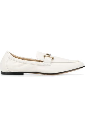 Tod's T-plaque leather loafers