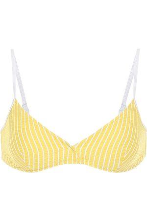 Solid The Brigette striped bikini top