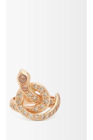 Ileana Makri Berus Diamond & 18kt Rose- Snake Ring - Womens - Rose
