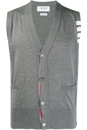 Thom Browne Knitted 4-Bar V-neck vest