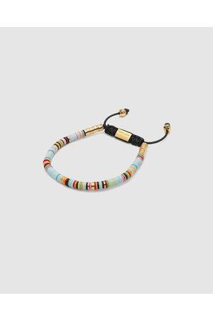 Nialaya Men's Beaded Bracelet with Disc Beads - Jewellery Men's Beaded Bracelet with Disc Beads