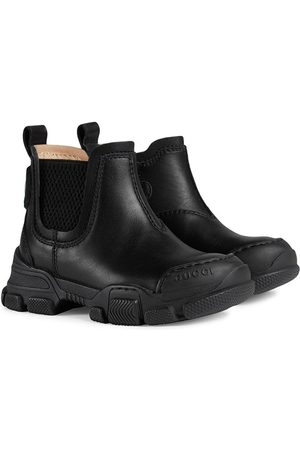 Gucci Logo patch ankle boots