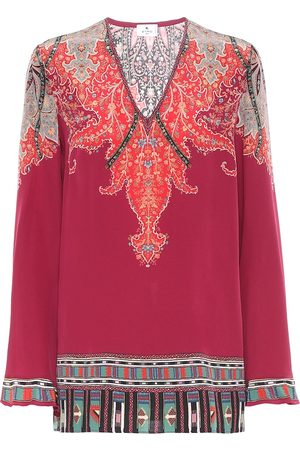 Etro Paisley silk top