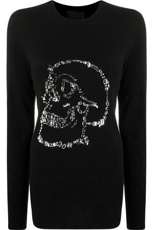 Philipp Plein Embellished skull jumper
