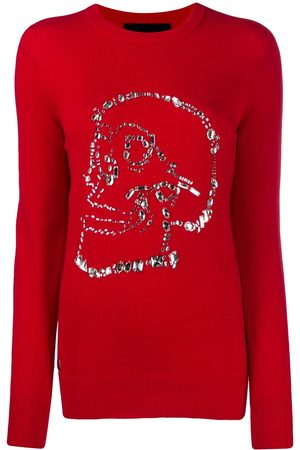 Philipp Plein Crystal-skull sweater