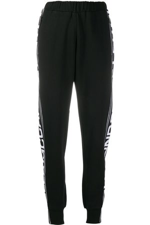 Stella McCartney Women Joggers - Logo stripe tapered track pants