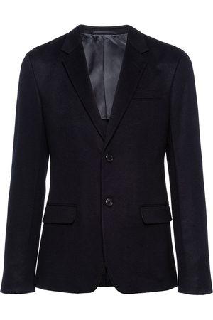Prada Men Blazers - Single-breasted cashmere blazer