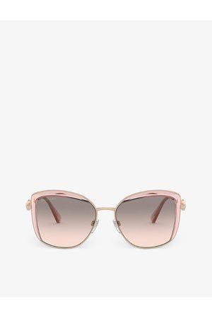 Bvlgari BV6128B Serpenti metal and acetate square-frame sunglasses