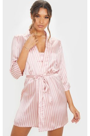 PRETTYLITTLETHING Baby Stripe Satin Robe