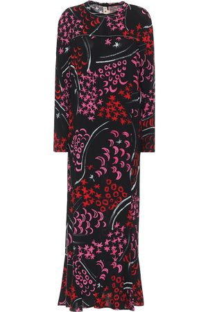Marni Printed crêpe midi dress